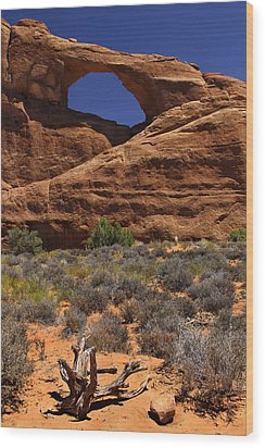 Skyline Arch - Arches National Park Wood Print by Mike McGlothlen