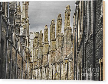 Skyline Of Cambridge Wood Print