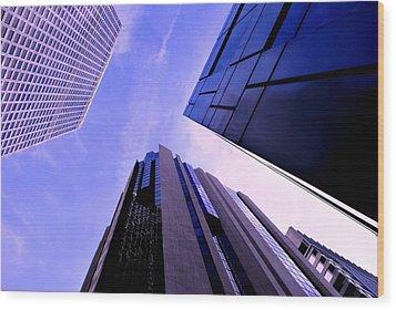 Skyscraper Angles Wood Print