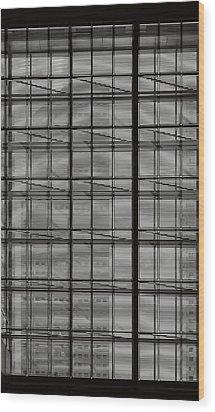 Skyscraper Through A Window Wood Print