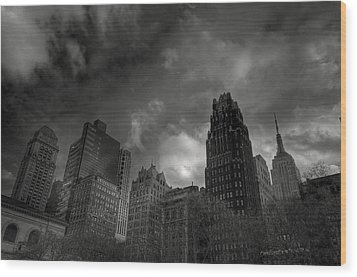 Skyscrapers Wood Print by Mike Horvath
