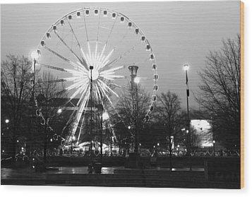 Skyview Atlanta Wood Print