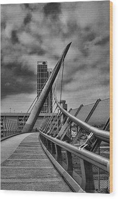 Skywalk Wood Print by Hugh Smith