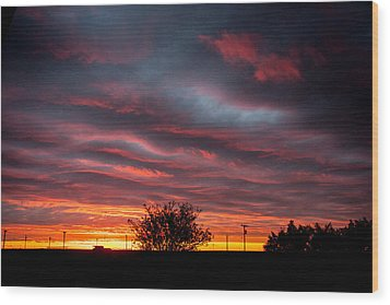 Wood Print featuring the photograph Skywaves In Pink by Shirley Heier