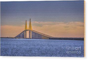 Skyway Bridge Wood Print by Marvin Spates