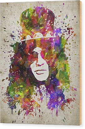 Slash In Color Wood Print by Aged Pixel