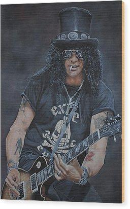 Slash Live Wood Print by David Dunne