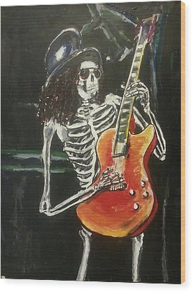 Slash Wood Print by Marisa Belculfine