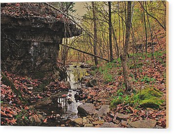 Slate Bottom Creek Wood Print by Benjamin Yeager