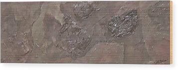 Slate Slab Wood Print by Jim Ellis