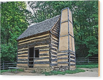 Slave Cabin Wood Print by DJ Florek