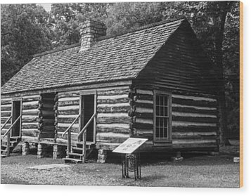Wood Print featuring the photograph Slave Quarters Belle Meade Plantation by Robert Hebert