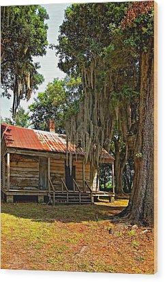 Slave Quarters Wood Print by Steve Harrington