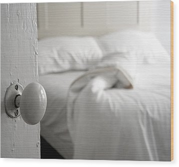 Wood Print featuring the photograph Sleeping Alone by Brooke T Ryan