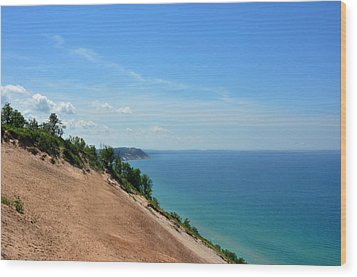 Wood Print featuring the photograph Sleeping Bear Dunes by Diane Lent
