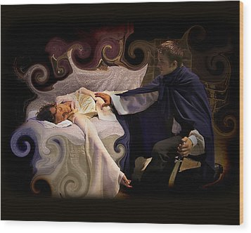 Sleeping Beauty And Prince Wood Print by Angela Castillo