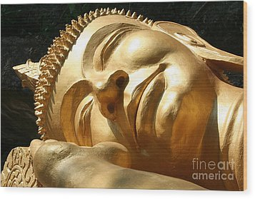 Wood Print featuring the photograph Sleeping Buddha by Nola Lee Kelsey