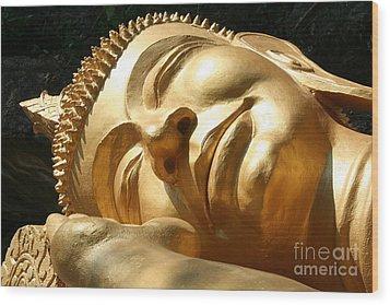Sleeping Buddha Wood Print by Nola Lee Kelsey