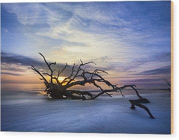 Sleeping Giant Wood Print by Debra and Dave Vanderlaan