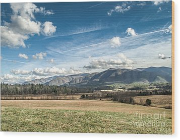 Wood Print featuring the photograph Sleeping Giants In Cades Cove by Debbie Green