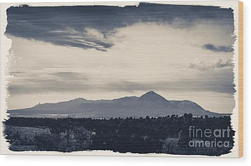 Sleeping Ute Mountain Wood Print