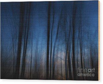 Sleepwalking... Wood Print by Nina Stavlund
