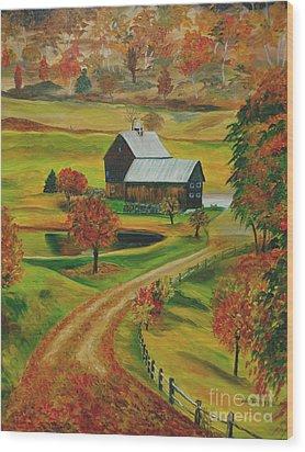 Sleepy Hollow Farm Wood Print by Julie Brugh Riffey