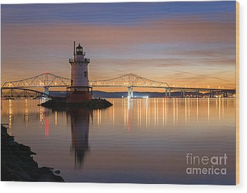 Sleepy Hollow Light Reflections  Wood Print by Michael Ver Sprill
