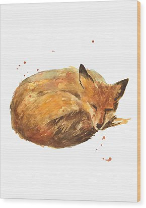 Sleepyhead Wood Print by Alison Fennell
