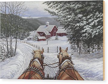Sleigh Bells Wood Print by Richard De Wolfe