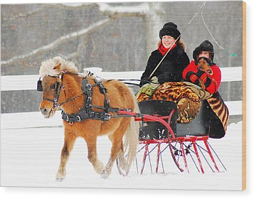 Wood Print featuring the photograph Sleigh Ride by James Kirkikis