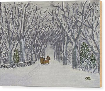 Sleigh Ride Through Time Wood Print