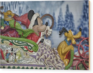 Sleigh Riding Wood Print by Thomas Woolworth