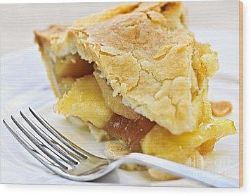 Slice Of Apple Pie Wood Print by Elena Elisseeva