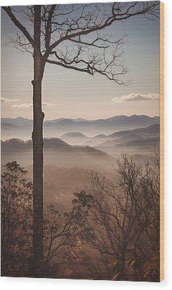 Slice Of The Smokies Wood Print by Maria Robinson