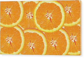 Wood Print featuring the photograph Slices Of Citrus by Cecil Fuselier