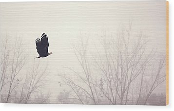 Slicing Through The Fog Wood Print by Melanie Lankford Photography