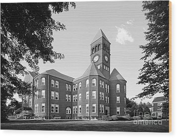 Slippery Rock University Old Main Wood Print by University Icons
