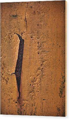 Slit Wood Print by Odd Jeppesen