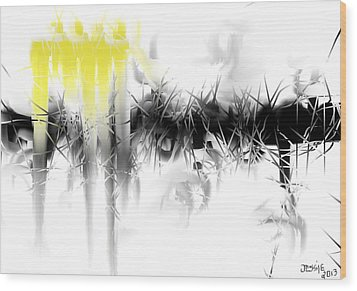 Wood Print featuring the digital art Sliver by Jessica Wright