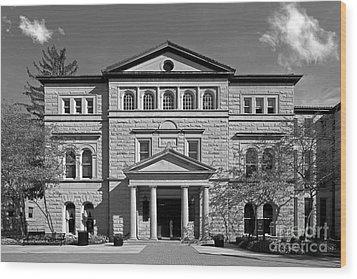 Slocum Library Ohio Wesleyan University Wood Print by University Icons