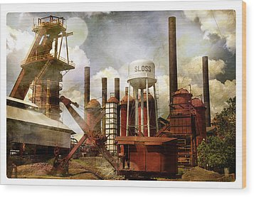 Wood Print featuring the photograph Sloss Furnace II by Davina Washington