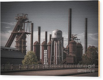 Sloss Furnaces Wood Print