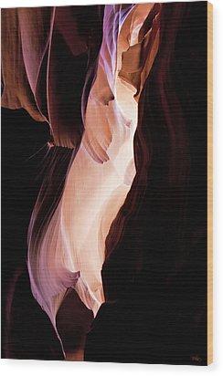 Slot Canyon Arizona Wood Print by Evie Carrier