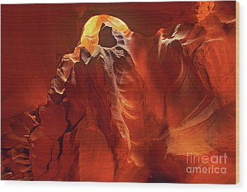 Slot Canyon Formations In Upper Antelope Canyon Arizona Wood Print
