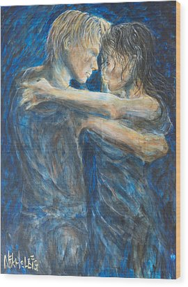 Slow Dancing Iv Wood Print by Nik Helbig