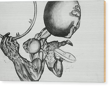 Small Ball Dunking Wood Print by Cepada Cloud