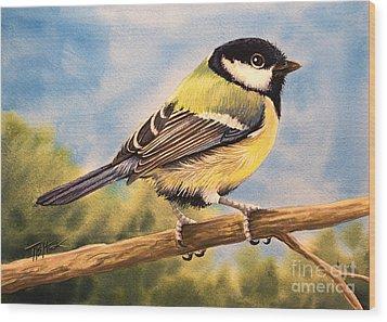 Small Bird Wood Print by Tish Wynne