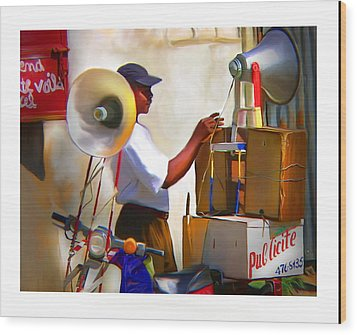 Wood Print featuring the digital art Small Business by Bob Salo