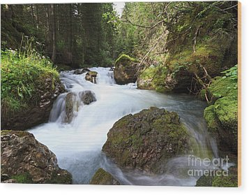 Wood Print featuring the photograph Small Stream by Antonio Scarpi